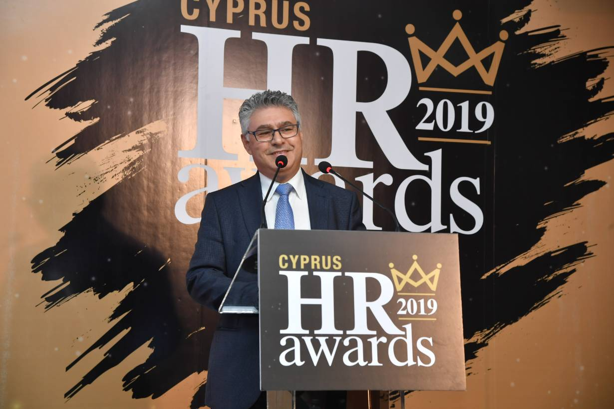Barry Kyriacou at the 2019 Cyprus HR Awards